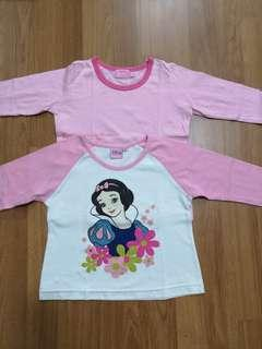 Combo long sleeve Tshirt 5-6y