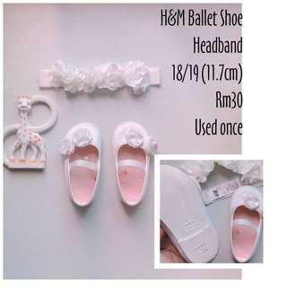 H&m Baby Shoes and headband