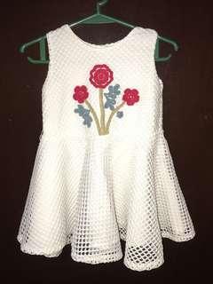 Peppermint White Dress