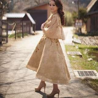 Vania gold dress