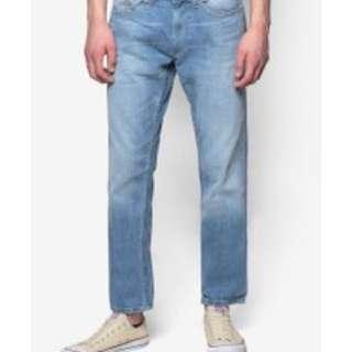 🚚 Burton's Menswear Bleached Stretch Skinny Jeans