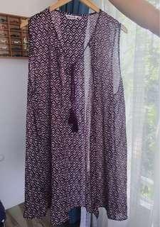 long vest/rompi/ outwear baju lucu etnic