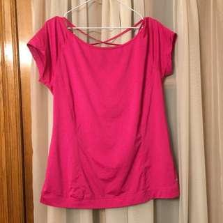 Pink workout top Size L