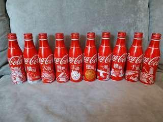 Cocacola 可口可樂日本城市鋁瓶29支