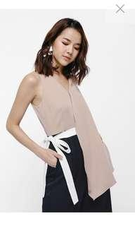 Love bonito jhenji Belted Asymmetrical Jumpsuit