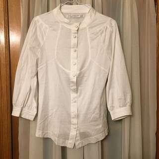 Zara white top Size M