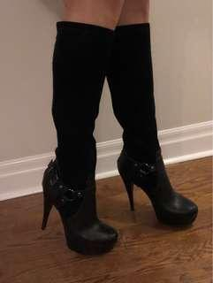 Genuine leather and suede boots -size 9