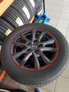16 Inch 5x114.3 Used Original Mazda Rim & Tyre