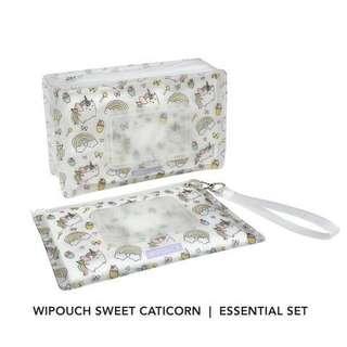 BNIB Caticorn Wipouch Set