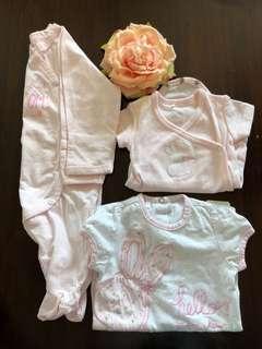 Baby girl OOTD newborn: 150 each