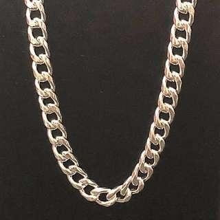 [🗣最後一條啦]990 超純銀項鍊 silver necklace 24 inch 吋 55g 可過頭穿,重手