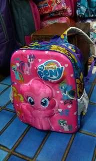 Tas Sekolah Motif Little Pony Pink Ungu