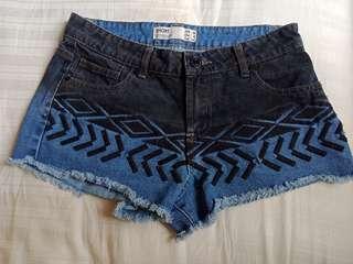 ulzzang ripped gradient denim shorts 🌻