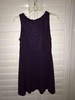 Purple dress with detail