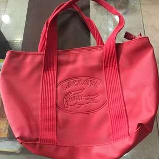 Authentic Lacoste Red Bag