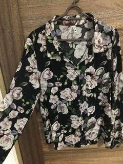 Cotton Printed Button Down Long Sleeves