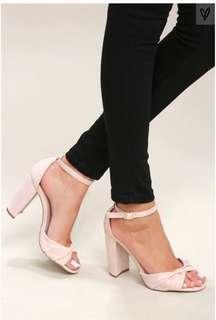 7c285d4224e BN Lulu s Nude Suede Ankle Strap Heels (US9)