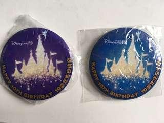 迪士尼徽章🏰樂園10週年紀念