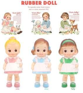 🚚 韓國超人氣雜貨品牌Rubber Doll 原創設計 膠皮公仔娃娃 複刻公仔人偶 復古娃娃風格 拍照zakka 古董娃娃