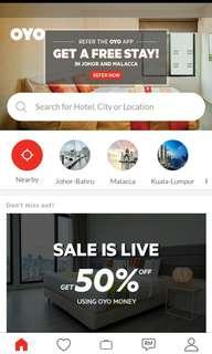 FOC RM 100 Hotel Booking Voucher OYO