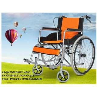 """24"""" WHEELCHAIR BRAND NEW, SELF PROPEL, LIGHT WEIGHT AND PORTABLE"""