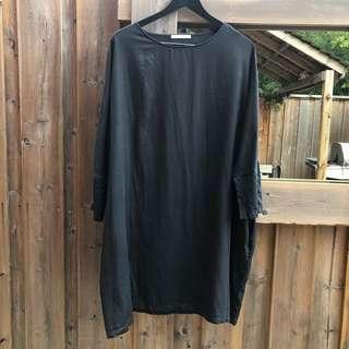 BLACK CRANE PAINTER DRESS - size S