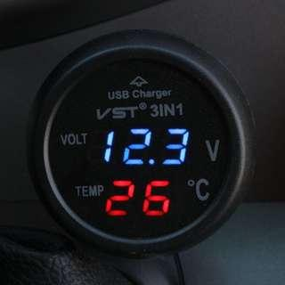 Car battery volt meter