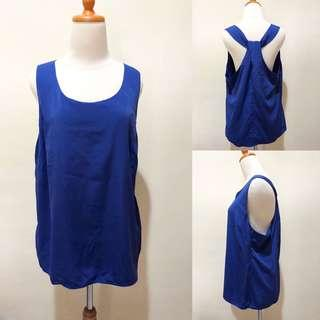 Electric blue loose top