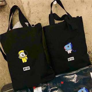 Bts Embroidery Canvas Bag