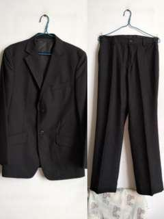 ~ 99% new ~ Black executive suit and pants