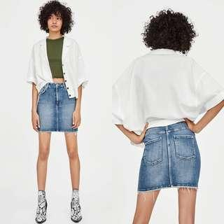 ZARA HI-RISE STRETCH MINI SKIRT