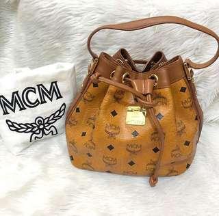 100% authentic MCM drawstring bag