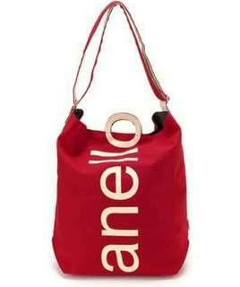 AUTHENTIC ANELLO O TOTE IN RED AND CREAM