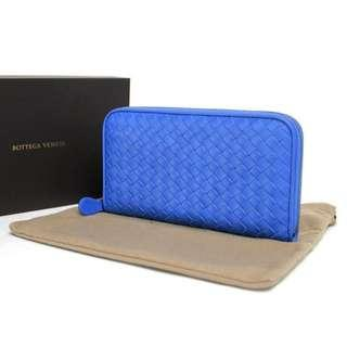 Bottega Veneta Long Wallet Blue