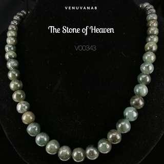 🚚 The Stone of Heaven Burmese Dark Green Jadiete Necklace (10mm Bead Length 49cm) -Jadiete is priceless, it is an invaluable stone that is being highly respected and admired since ancient time until today.