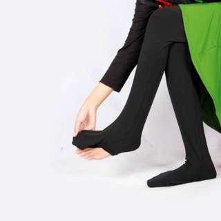 Legging wudhu size L bahan kaos warna hitam