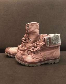 PRICE DROP - Palladium 'Baggy' pink foldover multi-way canvas boots