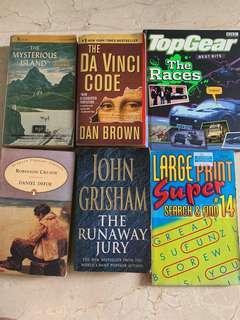 Variety of books to sale