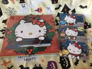 Hello Kitty MTR 紀念車票 聖誕卡 一套