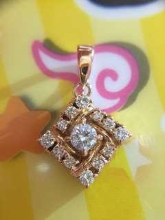 💙✨ 18K 玫瑰金天然鑽石頸鏈 ✨💙
