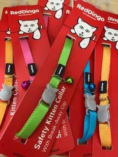 Red Dingo kitten collar