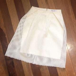 Ivory & Chin White Skirt