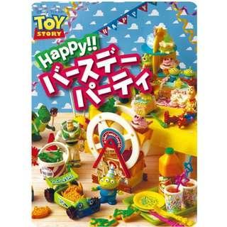 [絕版貨] Re-ment Disney Pixar Toy Story Happy Birthday Party 反斗奇兵 巴斯光年 三眼仔 生日派對 原盒8款 (全新未拆) Rement