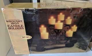 Xmas present! Wrought iron candle holder