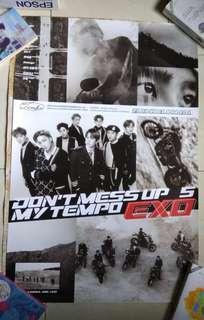 Poster EXO 'Tempo' (Allegro & Moderato ver.)