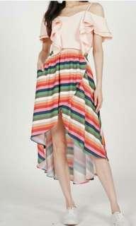 Mds asymmetrical strips skirt