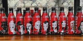 10pcs Marvel Avengers coca cola coke set
