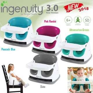 INGENUITY - BABY BASE 2-IN-1 BOOSTER SEAT V3 Latest Model (3mths till 4yrs old)🎈