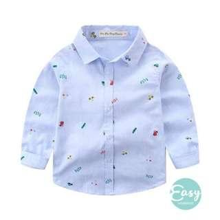READY STOCK Kids Boys Long Sleeve Shirt Outfits