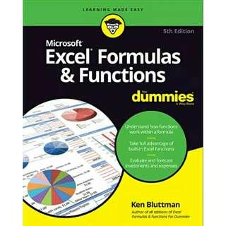 ( eBook ) Excel Formulas & Functions For Dummies, 5th Edition